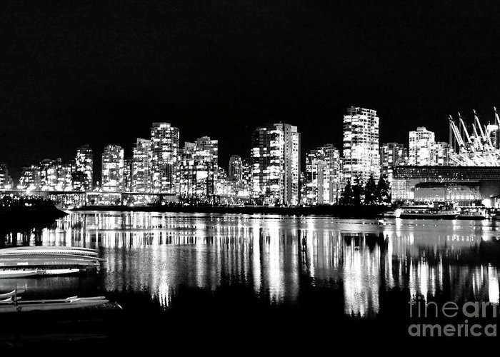 Silver Lining Greeting Card featuring the photograph Vancouvers Silver Lining by Dean Edwards