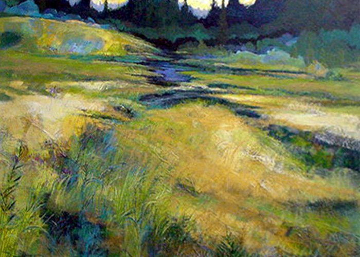 Landscape Greeting Card featuring the painting Water Source by Dale Witherow