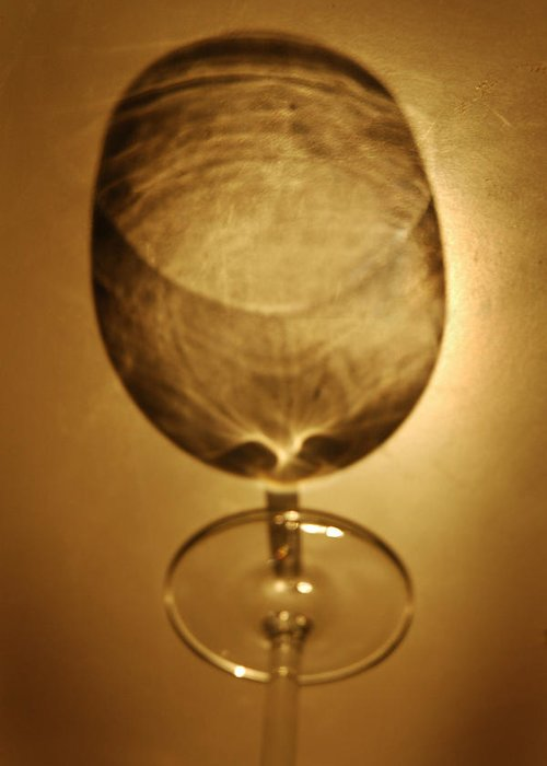 Gwenda Harvey Greeting Card featuring the photograph Wine Glass Still Life- 1138 by Gwenda Harvey