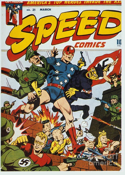 1943 Greeting Card featuring the painting World War II: Comic Book by Granger