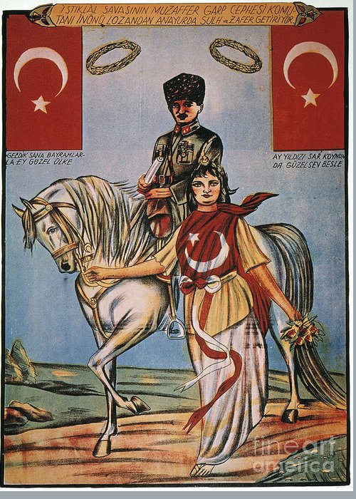 1920s Greeting Card featuring the painting Republic Of Turkey: Poster by Granger