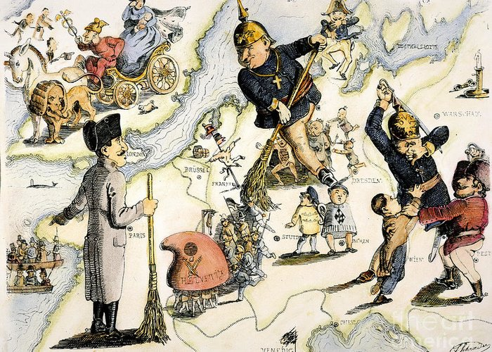 1848 Greeting Card featuring the painting Europe: 1848 Uprisings by Granger