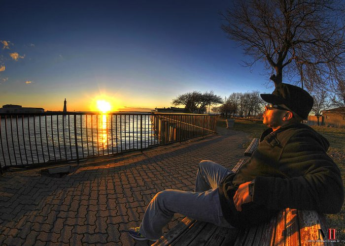 Buffalo Greeting Card featuring the photograph 01 Me Sunset 16mar16 by Michael Frank Jr