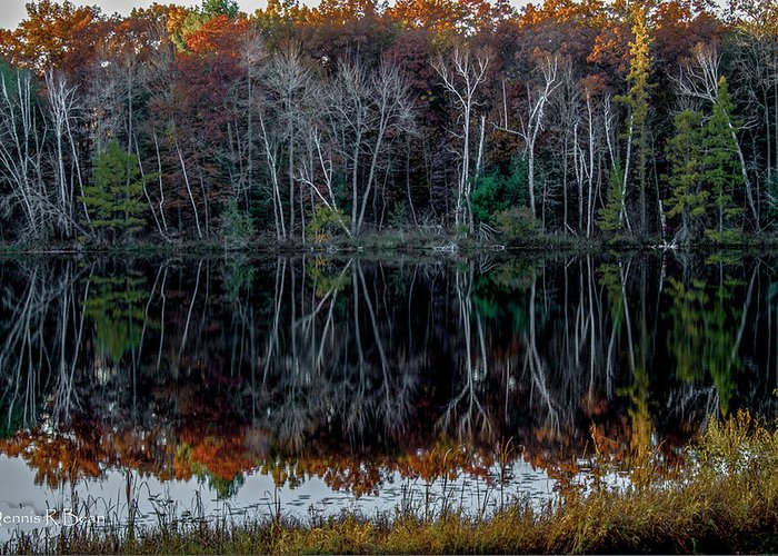 Greeting Card featuring the photograph 02l Reflections At Gowen Michigan by Dennis R Bean