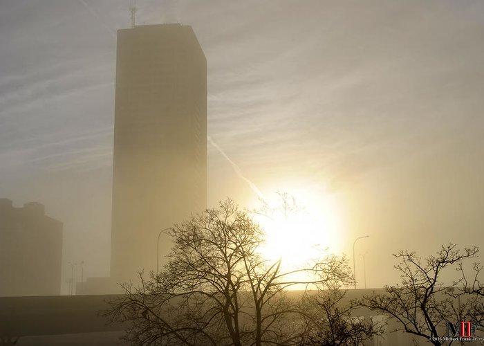 Buffalo Greeting Card featuring the photograph 05 Foggy Sunday Sunrise by Michael Frank Jr