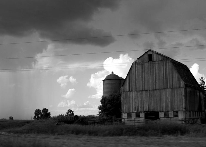 Barn Greeting Card featuring the photograph 08016 by Jeffrey Freund