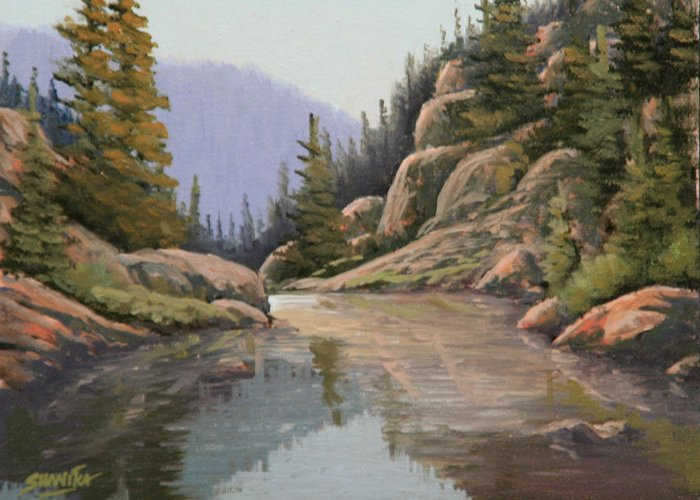 Landscape Greeting Card featuring the painting 090907-68  Almost There by Kenneth Shanika
