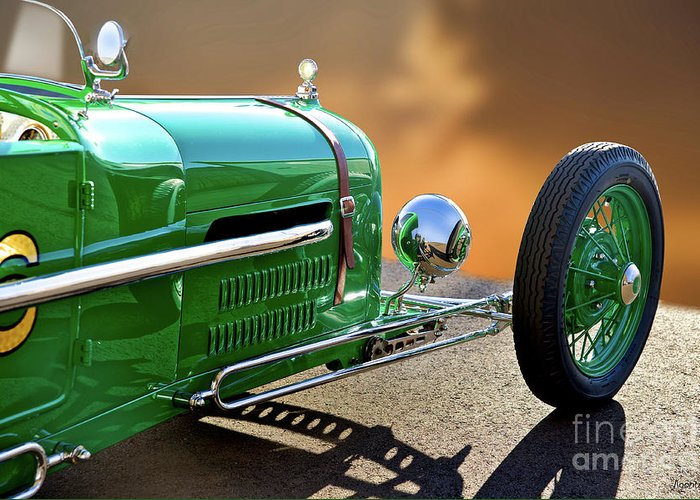 Auto Greeting Card featuring the photograph 1926 Ford Model T 'dry Lakes' Roadster Vii by Dave Koontz