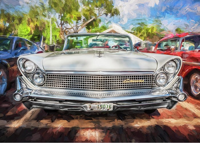1959 Lincoln Greeting Card featuring the photograph 1959 Lincoln Continental Town Car Mk Iv Painted by Rich Franco