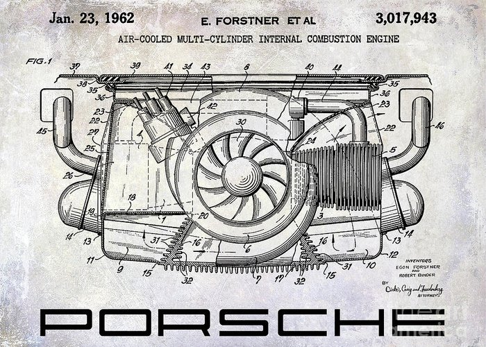 Designs Similar to 1962 Porsche Engine Patent