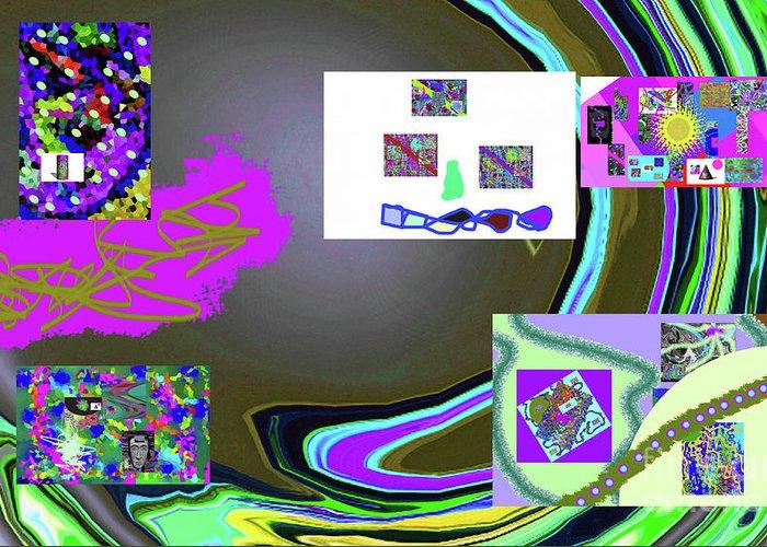 Walter Paul Bebirian Greeting Card featuring the digital art 6-3-2015babcde by Walter Paul Bebirian