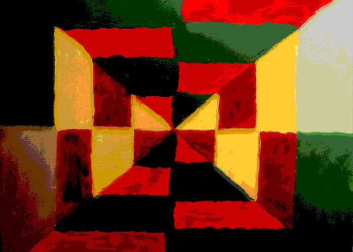 Greeting Card featuring the painting Abstract by Jason Gauvreau