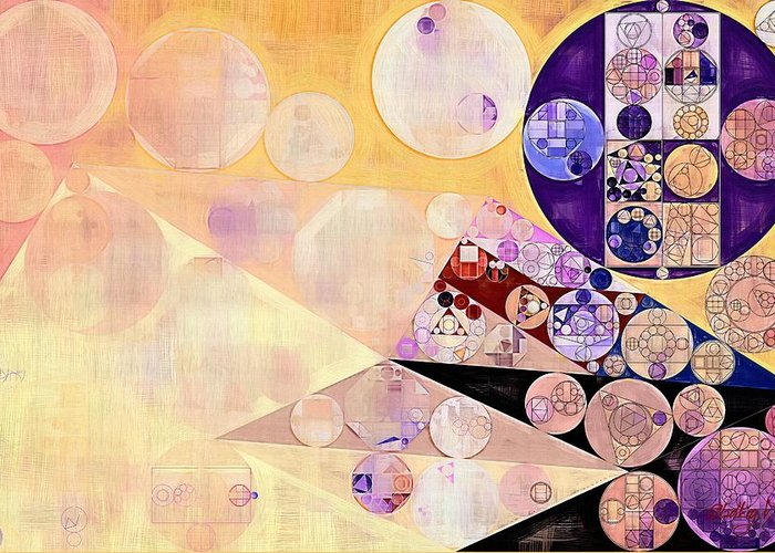 Fantastical Greeting Card featuring the digital art Abstract Painting - Blackcurrant by Vitaliy Gladkiy