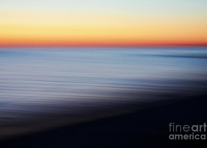Sky Greeting Card featuring the photograph Abstract Sky And Water by Tony Cordoza