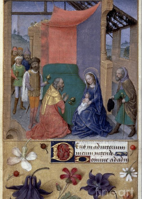 1480 Greeting Card featuring the photograph Adoration Of Magi by Granger