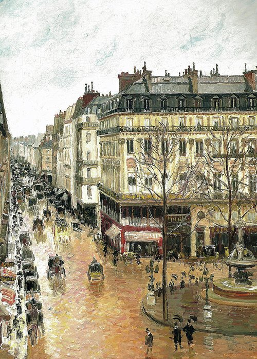 Camille Pissarro (danish-french Greeting Card featuring the digital art Afternoon by Mark Carlson