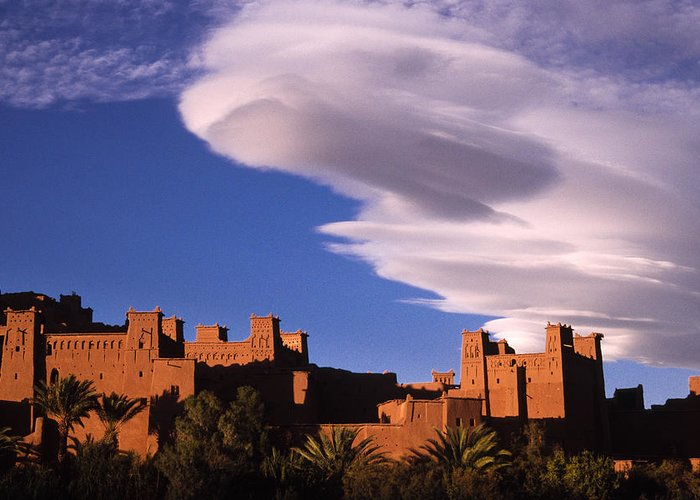 North Africa Greeting Card featuring the photograph Ait Benhaddou Casbah by Michele Burgess