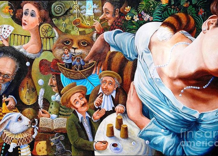 Colorful Greeting Card featuring the painting Alice Wake Up by Igor Postash