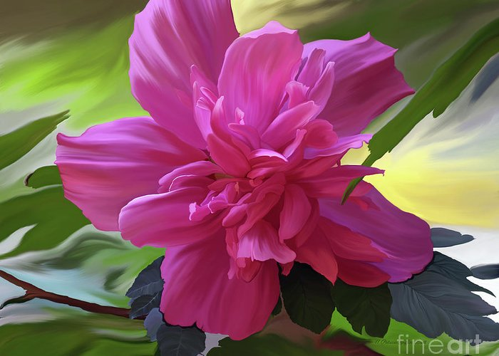 Hibiscus Painting Greeting Card featuring the painting Althea Hibiscus I by Patricia Griffin Brett