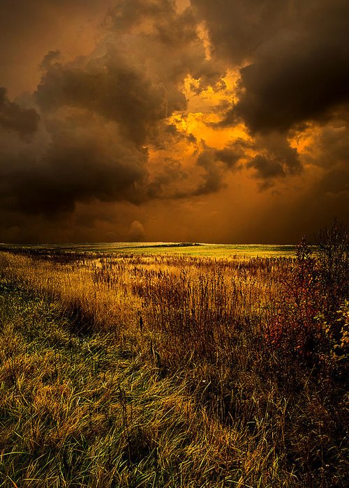 Horizons Greeting Card featuring the photograph An Autumn Storm by Phil Koch