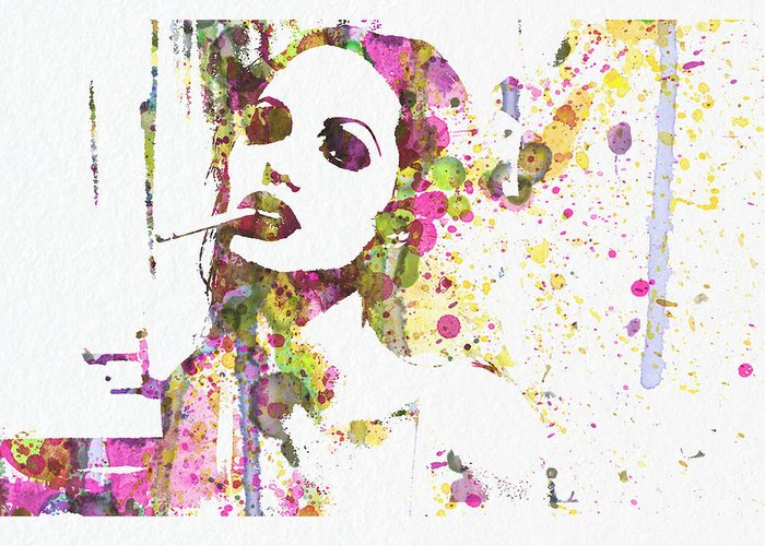 Angelina Jolie Greeting Card featuring the painting Angelina Jolie 2 by Naxart Studio