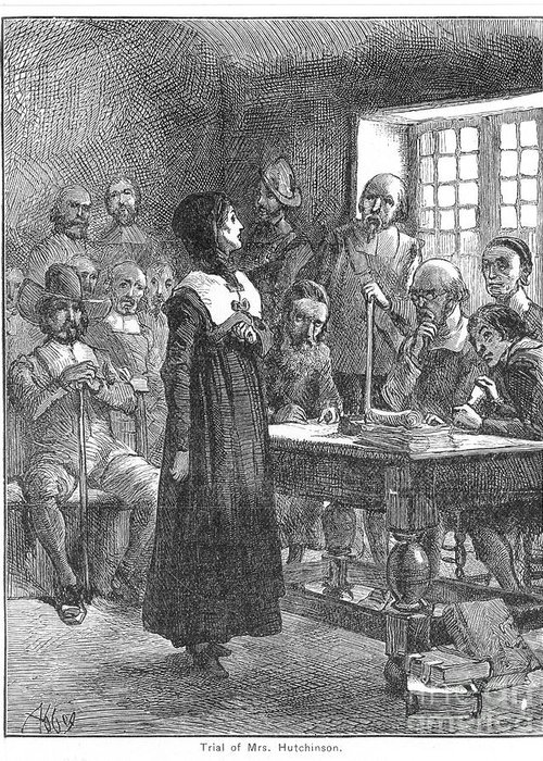 1637 Greeting Card featuring the photograph Anne Hutchinson (1591-1643) by Granger