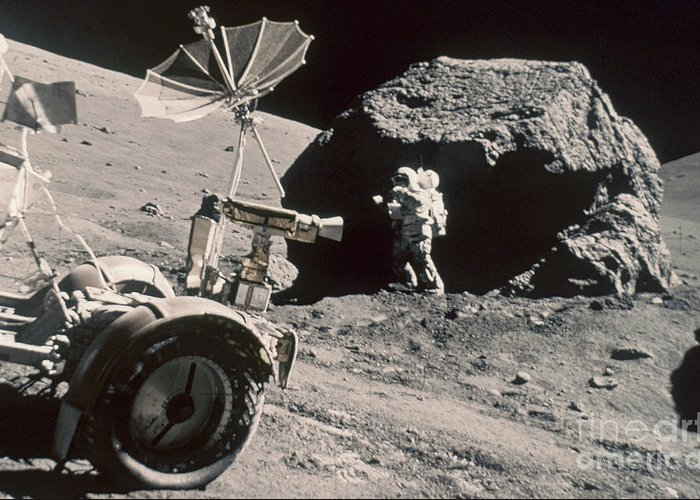 1972 Greeting Card featuring the photograph Apollo 17, December 1972: by Granger