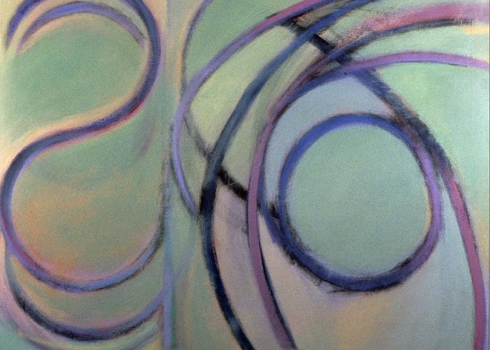 Abstract Greeting Card featuring the painting Arc No. 7 by Ruth Sharton