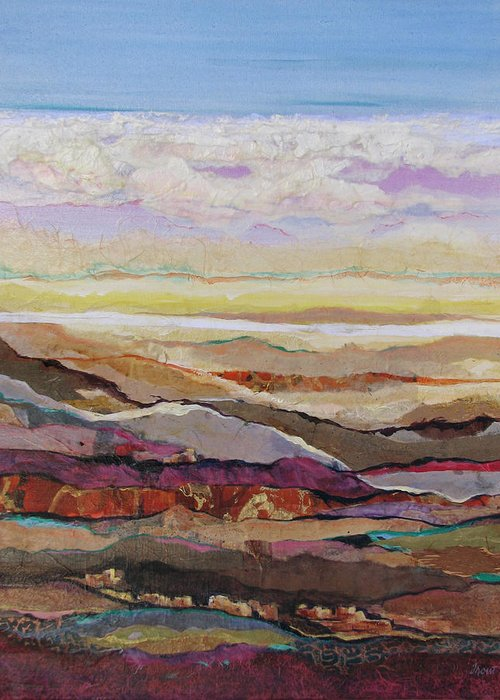 Southwest Mixed Media Greeting Card featuring the painting Arizona Reflections Number Four by Don Trout