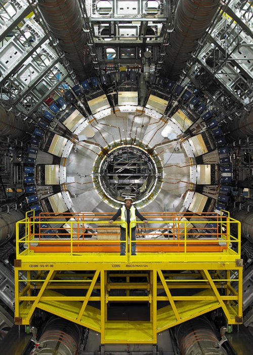 Atlas Greeting Card featuring the photograph Atlas Detector, Cern by David Parker