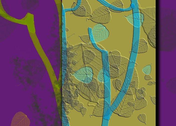 Abstract Digital Art Greeting Card featuring the digital art Attitude by Carola Ann-Margret Forsberg