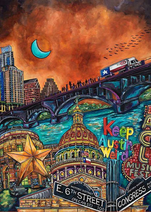 Capital Of Texas Greeting Cards