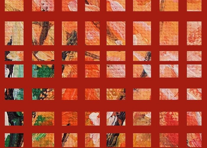Autumn Greeting Card featuring the painting Autumn Abstract by Eric Schiabor