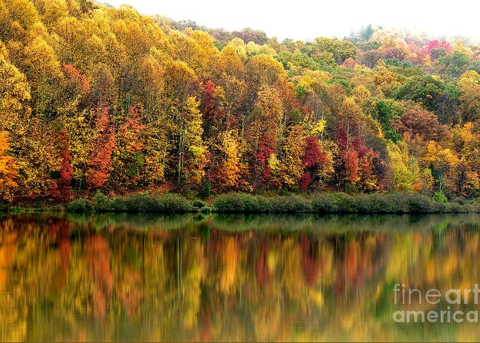West Virginia Greeting Card featuring the photograph Autumn Big Ditch Lake by Thomas R Fletcher