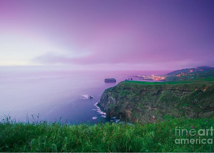 Azoren Greeting Card featuring the photograph Azores Coastal Landscape by Gaspar Avila