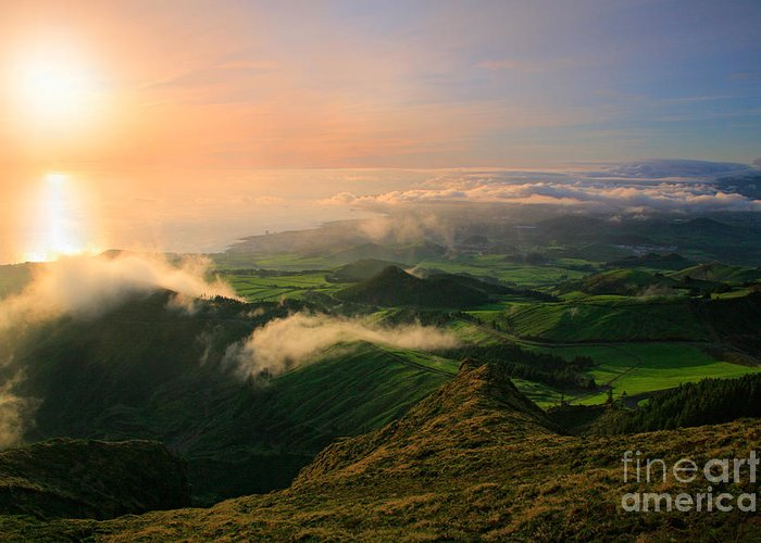 Coast Greeting Card featuring the photograph Azores Islands Landscape by Gaspar Avila
