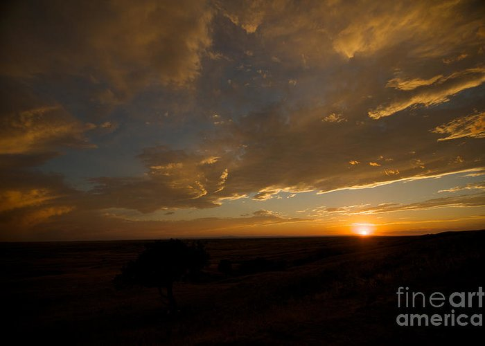 Badlands National Park Greeting Card featuring the photograph Badlands Sunset by Chris Brewington Photography LLC