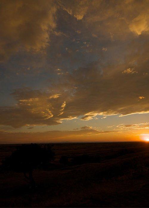 Badlands National Park Greeting Card featuring the photograph Badlands Sunset by Chris Brewington Photography LLC