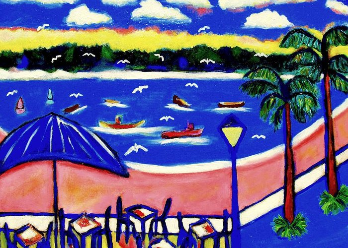Greeting Card featuring the painting Bajo De Guia by Ted Hebbler