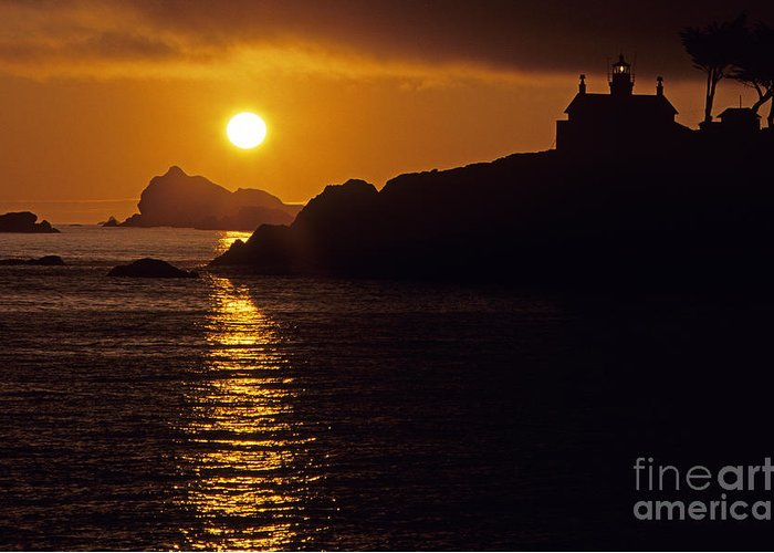 Landscape Greeting Card featuring the photograph Battery Point Lighthouse by Jim Corwin