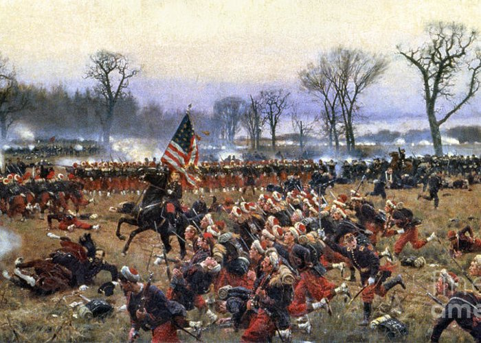 1862 Greeting Card featuring the painting Battle Of Fredericksburg - To License For Professional Use Visit Granger.com by Granger