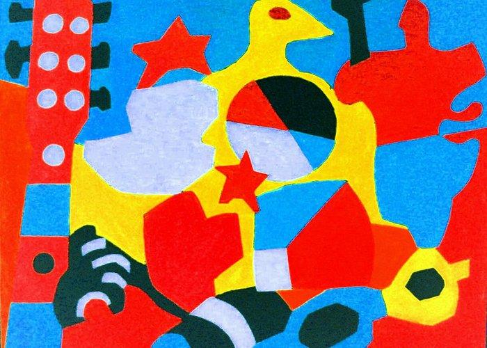 Greeting Card featuring the digital art Beach Still Life by Stephen Davis