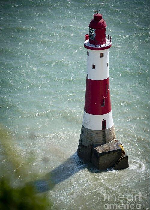 Beachy Head Greeting Card featuring the photograph Beachy Head Lighthouse. by Donald Davis
