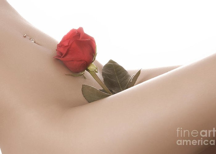 Beautiful Greeting Card featuring the photograph Beautiful Female Body by Oleksiy Maksymenko