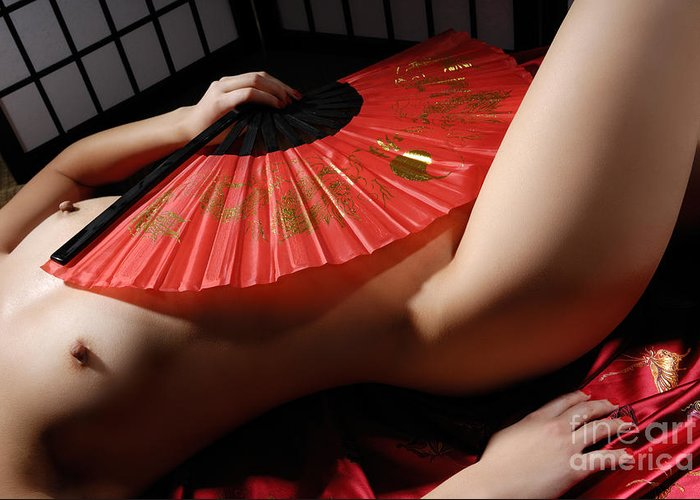 Asian Nude Greeting Cards