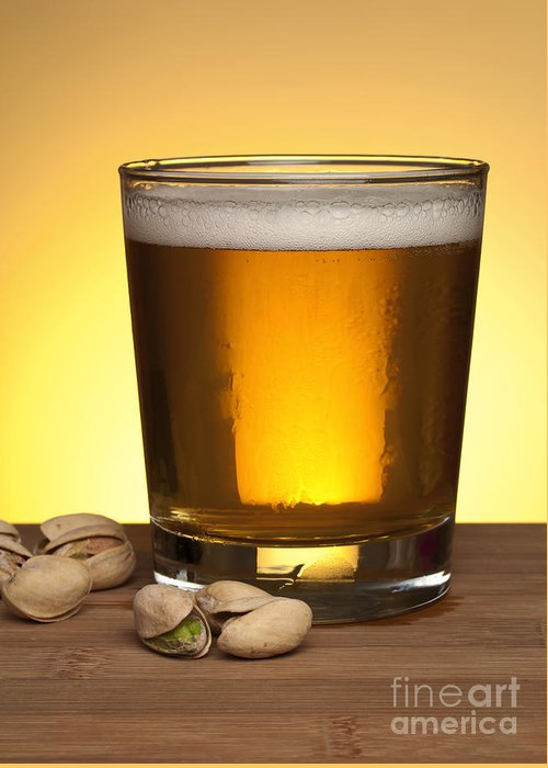 Beer Greeting Card featuring the photograph Beer In Glass by Blink Images