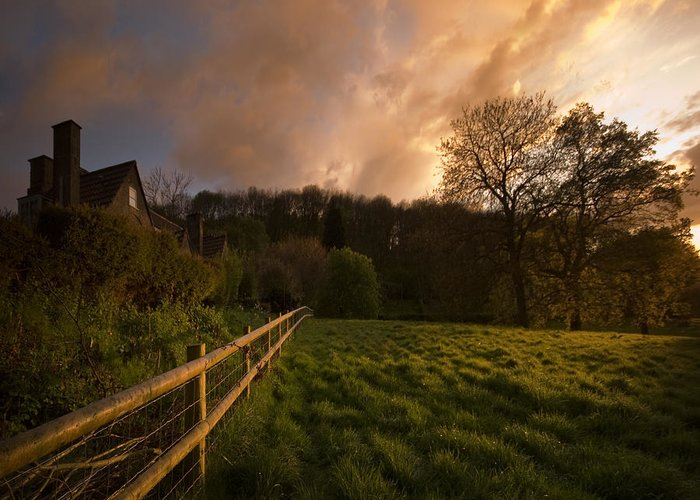 Rural Greeting Card featuring the photograph Behind The Fence by Angel Ciesniarska