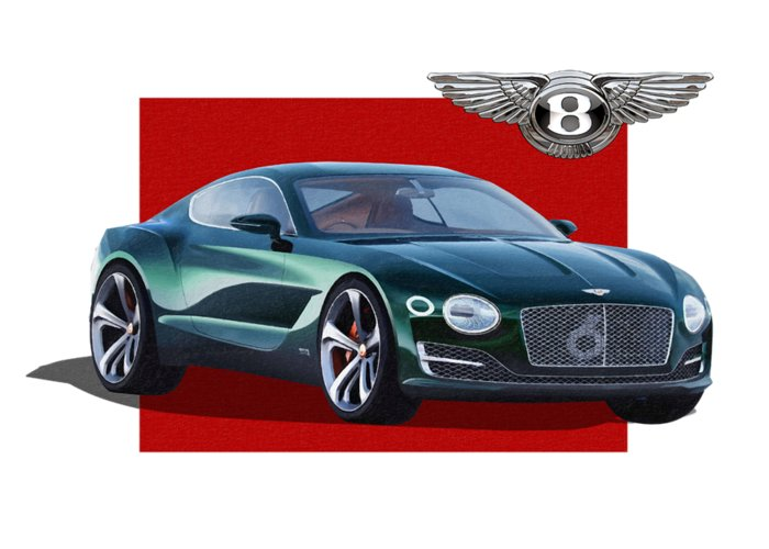 �bentley� Collection By Serge Averbukh Greeting Card featuring the photograph Bentley E X P 10 Speed 6 with 3 D Badge by Serge Averbukh