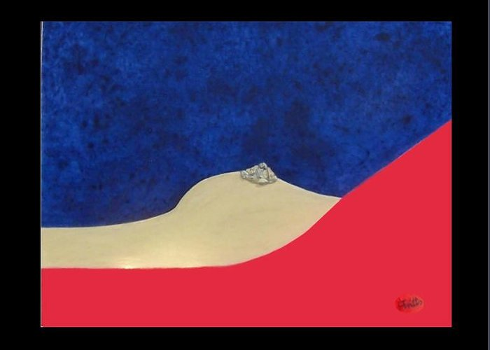 Berlin Wall Greeting Card featuring the painting Berliner Nipple by Anneliese Fritts