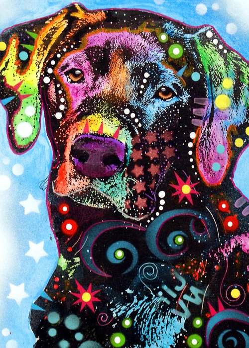 Abstract Dog Greeting Cards